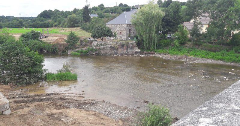 Démontage de la Microcentrale et du barrage de Candol.