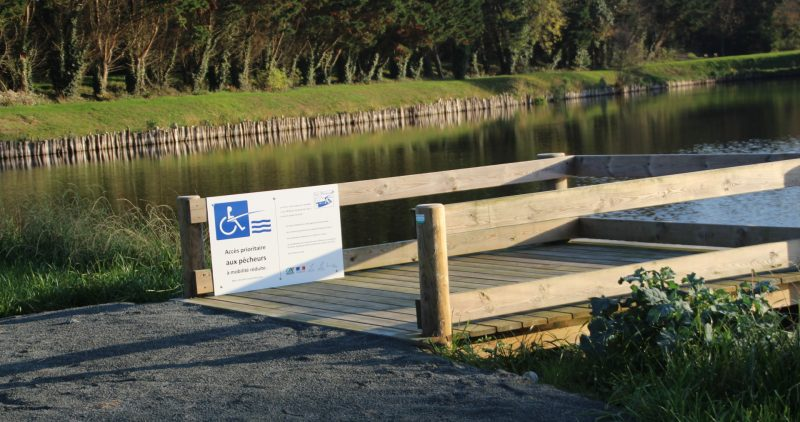 Inauguration du Ponton de pêche du plan d'eau de Lessay