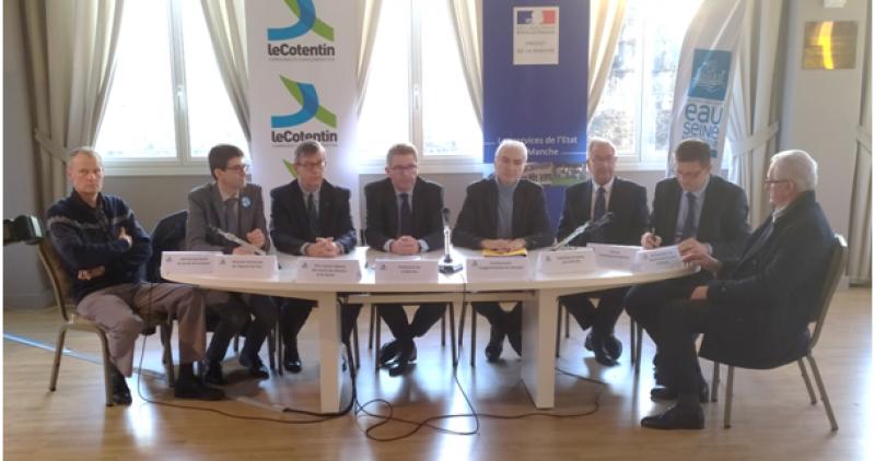 La FDAAPPMA 50 cosignataire du Contrat Eau  Climat de la Communauté d'Agglo du Cotentin