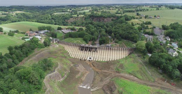 Déconstruction du barrage de Vezins en images !